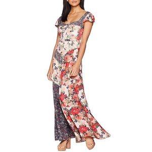 Free People La Fleur Maxi Dress in Peach Florals